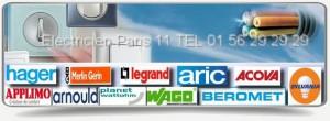 Notre électricien agrée edf dans le 75011 vous apportera aide et conseil en matière d'électricité et vous proposera le remplacement de pièces par du matériel de grandes marques comme Legrand, Sylvania, Acova, Merlin Gerin, Arnould, , Aric, Hager, Applimo.