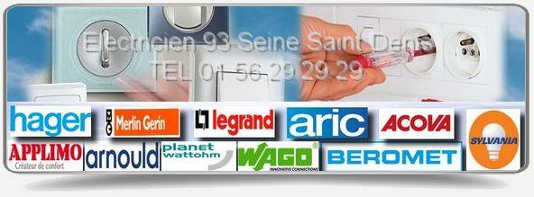 Notre entreprise d'électricité du 93 est agrée et s'occupe de vos diverses réparations électriques comme une panne électrique, un court-circuit,des fils dénudés, une remise aux normes, pour votre dépannage notre électricien utilise des marques de qualité telles que Wago, Legrand, Beromet, Aric, Arnould.