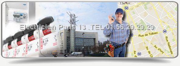 Sos Electricien est a votre service dans Paris 13eme.Notre electricien agree edf paris 13 est specialiste du dépannage en électricité. Notre entreprise d'artisans electriciens se déplace dans les 30mn.