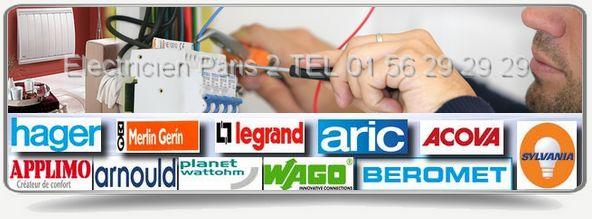 Entreprise d'électricité Paris 2eme: Réparations et entretien dans le 75002 : Votre Artisan électricien intervient rapidement, il travaille avec les plus grandes marques comme:Applimo, Arnould, Claude, Acova, Beromet, Schneider, Legrand, Aric, Hager, Sylvania, Merlin Gerin, etc