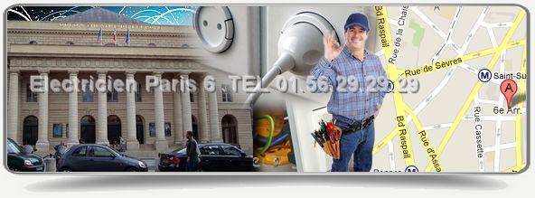 Vous avez besoin d'une entreprise d 'electricite dans le 75006 pour un depannage? Contactez electricien paris 6eme au 01.56.29.29.29