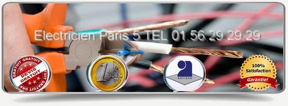Nos Electriciens de Paris 5 vous conseillent au mieux  en tenant compte de vos demandes et de  votre budget pour vos travaux d'électricité. Notre service Electricité Paris 5ème  vous dépanne et  installe du matériel agréé par la majorité des compagnies d'assurance.