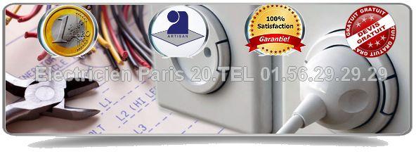 Le service Electricité Paris 20 est à votre service tous les jours y compris dimanche et jours fériés pour vos dépannages en électricité. Nos artisans électriciens Paris 20 vous proposent un devis et un déplacement gratuits.