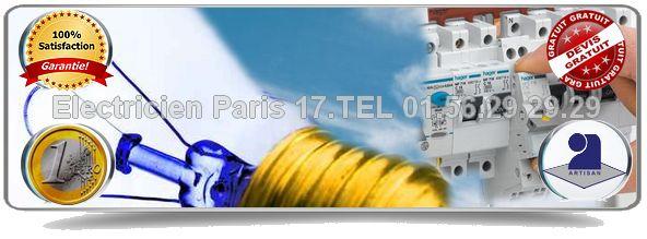 Notre service Electricien Paris 17 vous dépanne pour tous problèmes en matière d'électricité: panne de courant, court circuit, haute tension-basse tension, remise aux normes électrique… Disponibilité de nos artisans 7 jours sur 7 et de 8 heures à 23 heures sur tout le 17ème arrondissement de Paris.