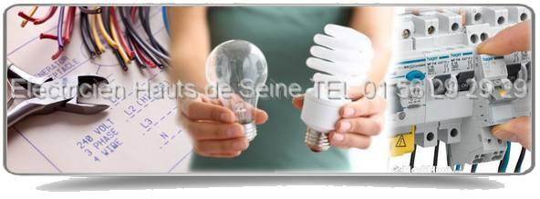 Sos Electriciens 92 : Des artisans experts de l'électricité  dans les Hauts de Seine.