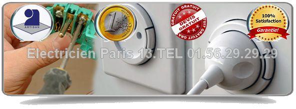 Les Electriciens Paris 13 vous conseilleront au mieux pour entreprendre tous vos travaux d'électricité. Ils assureront votre dépannage dans les plus brefs délais et installeront avec votre aval du matériel de professionnel haut de gamme (agréé par la majorité des compagnies d'assurance).