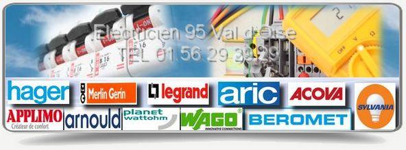 Sos électricien 95 est agréé Edf  il intervient 7j/7 dans le département du Val d'Oise: Legrand, Arnould, Planet Watthom, Wago